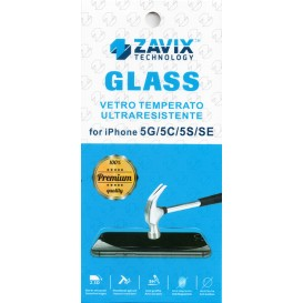 Pellicola vetro temperato per iPhone 5G / 5S / 5C / SE