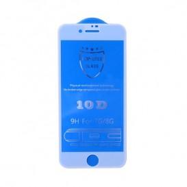 Pellicola vetro 10D iPhone 6 / 6S / 7 / 8 bianca