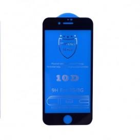 Pellicola vetro 10D iPhone 6 / 6S / 7 / 8 nera