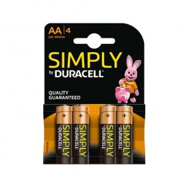 Duracell Simply AA 4 pz.