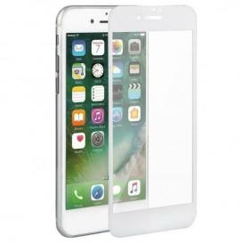 Pellicola vetro 10D iPhone 7 plus / 8 plus bianca
