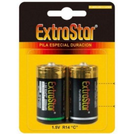 Extrasar pila 1/2 torcia c normale 1.5V x  2 pz.