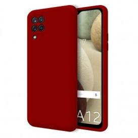 Custodia Silicone Samsung A12 Rossa