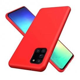 Custodia in Silicone per Samsung A31 colore Rosso