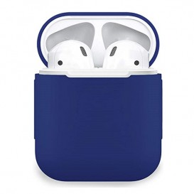Custodia Silicone Airpods colore Blu