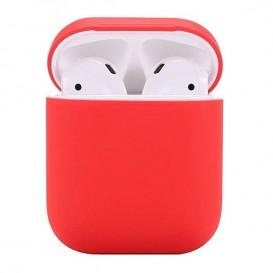 Custodia Silicone Airpods colore Rosso