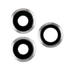 Anello Camera Posteriore + Vetrino iPhone 11 Pro 11 Pro Max Argento