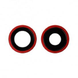 Anello Camera Posteriore + Vetrino iPhone 11 Rosso