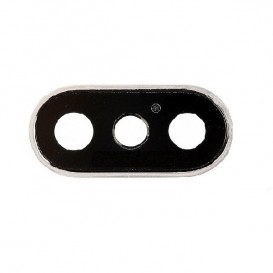Anello Camera Posteriore + Vetrino iPhone X Grigio
