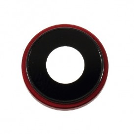 Anello Camera Posteriore + Vetrino iPhone XR Rosso