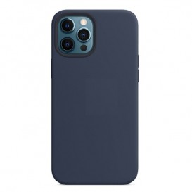 Custodia Silicone iPhone 12 Pro Max Blu