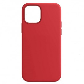 Custodia Silicone iPhone 12 mini Rossa
