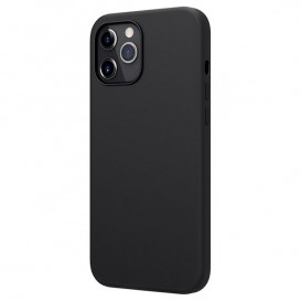 Custodia Silicone iPhone 12 Pro Max Nera