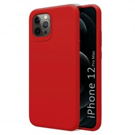 Custodia Silicone iPhone 12 Pro Max Rossa