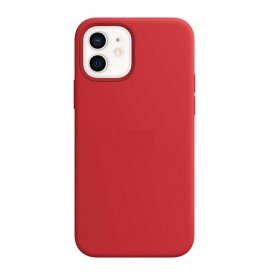 Custodia Silicone iPhone 12 / 12 Pro Rossa