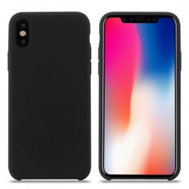 Custodia Silicone iPhone XS Max Nera
