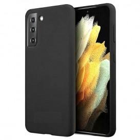 Custodia in Silicone per Samsung S21+ colore Nero