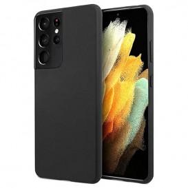 Custodia in Silicone per Samsung S21 Ultra colore Nero