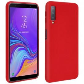 Custodia in Silicone per Samsung A7 2018 colore Rosso