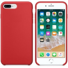 Custodia Silicone iPhone 7 Plus / 8 Plus Rossa