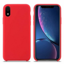 Custodia Silicone iPhone XR Rossa