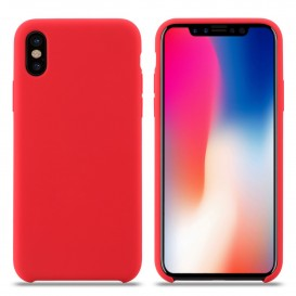 Custodia Silicone iPhone XS Max Rossa