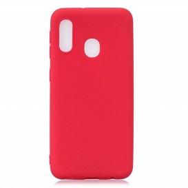 Custodia Silicone Samsung A20e Rossa
