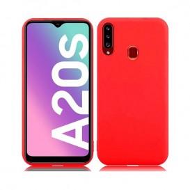Custodia Silicone Samsung A20s Rossa