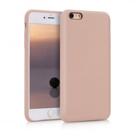 Custodia Silicone iPhone 6 Plus / 6S Plus Rosa Sabbia
