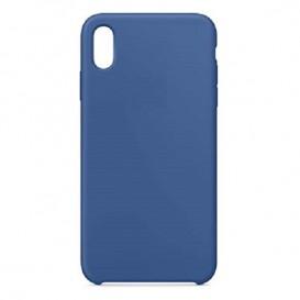 Custodia Silicone iPhone XS Max Blu Smalto