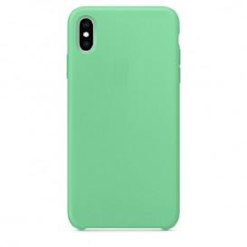 Custodia Silicone iPhone XS Max Verde Menta