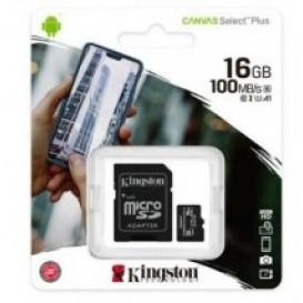 Scheda di memoria 16GB Kingston MicroSD Classe 10 100R A1