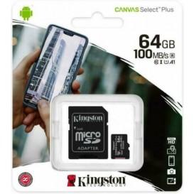 Scheda memoria 64GB Kingston MicroSD Classe 10