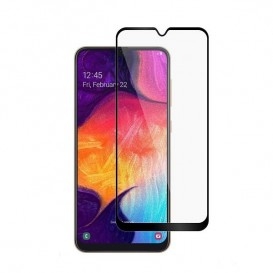 Pellicola vetro Temperato nera Full Edge Samsung A8 2018