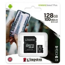 Scheda di memoria 128GB Kingston MicroSD Classe 10 100R A1